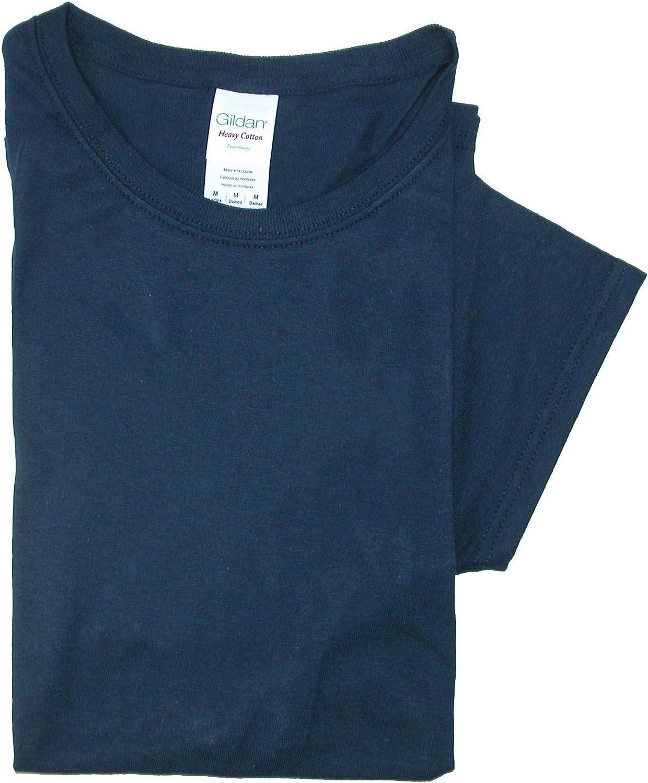 Gildan Women Cotton Crew Neck T Shirt