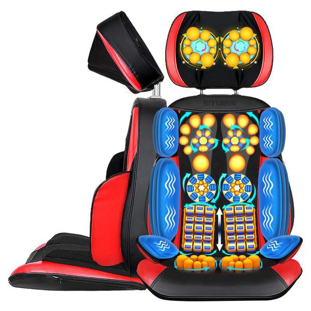 背中と肩のマッサージ - 調節可能なマッサージチェア、フルバックひざまずい指圧またはローリングマッサージで肩、背中、および上肢の筋肉をリラックス B07S3S9GL5