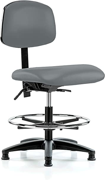 Perch Lab Chair With Adjustable Back Support And Foot Ring Stationary Caps Workbench Height Cinder Fabric Furniture Decor