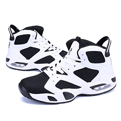 7ee20bba99b0b1 Males Basketball Shoes Classic Retro Court Streetball Shoes Cushioning  Women Men Basketball Boots White Size