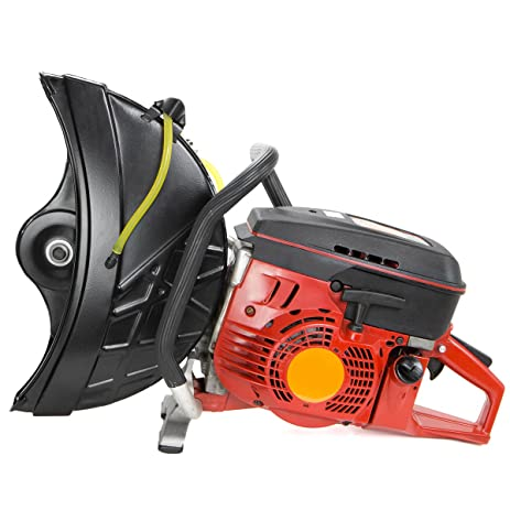 gas powered cut off saw. stark handheld gas cut off saw 14\u0026quot; 94cc 2 stroke engine without blade powered
