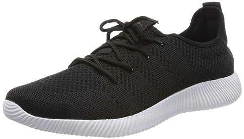QIMAOO Basket Sneakers Confortable pour Femme Et Homme, Outdoor Chaussures de Sports Respirant pour Jogging Fitness Gym Course Randonnée