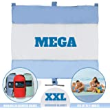 Mega Sand Proof Beach Blanket - XXL Oversized Blanket | 80% Larger than other Travel / Picnic Blankets. Huge 10' x 9.5' Family Size fits 7+ Adults. Perfect for Hiking, Camping and Festivals