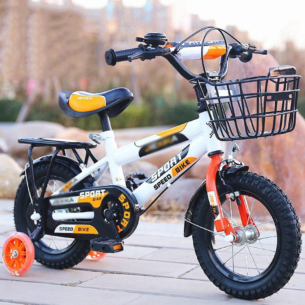 Brisk-子供時代 子供用自転車子供用自転車2歳から11歳 12/14/16/18/20インチレッドブルーオレンジ調節可能な折り畳み式子供用自転車 -アウトドアスポーツ (色 : オレンジ, サイズ さいず : 20 inches) B07DZ4MXYF 20 inches|オレンジ オレンジ 20 inches