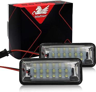 2 St/ücke WinPower LED Kennzeichenbeleuchtung Gl/ühbirnen Nummernschildbeleuchtung Lampe 3582 SMD mit CanBus Fehlerfrei 6000K Xenon kaltwei/ß f/ür Mini Cooper R50//R52//R53 usw