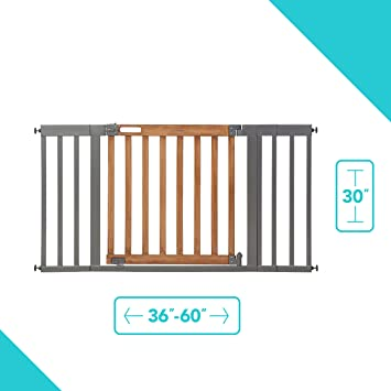 Summer Infant Stairway Wood Gate Door Baby Child Pet Safty Stairs Locking System