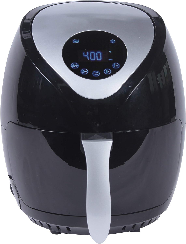 MAISON HUIS 1400-Watt 3.7-QT Digital Air Fryer Black