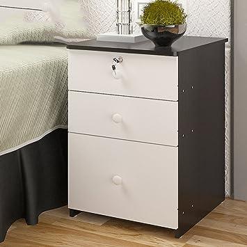 Moderne Einfache Nachttisch Massivholz Mit Schloss Einfache Anti Fading  Nachttisch Mini Anti Feuchte Nachttisch