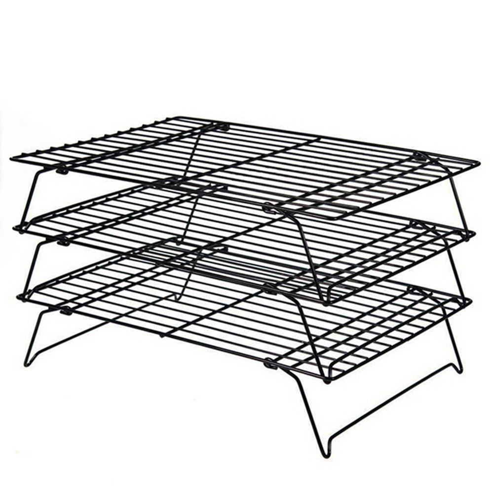 Daixers 3-Tier Stackable Cooling Rack,Baking Racks 16x 10 Inch