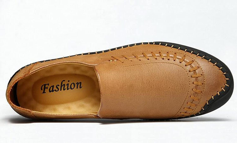 GTYMFH Herbst Lässig Leder Herrenschuhe Handgemachte Schuhe Faule Faule Faule Schuhe Einzelne Schuhe c436d5
