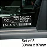 5 x PPJAGUARGPS GPS Tracking Device Security WINDOW Stickers 87x30mm-Car,Van Alarm Tracker