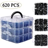 Uolor 675 Pcs Car Retainer Clips & Plastic Fasteners Kit Fender Rivet Clips, 16 Most Popular Sizes Auto Push Pin Rivets…