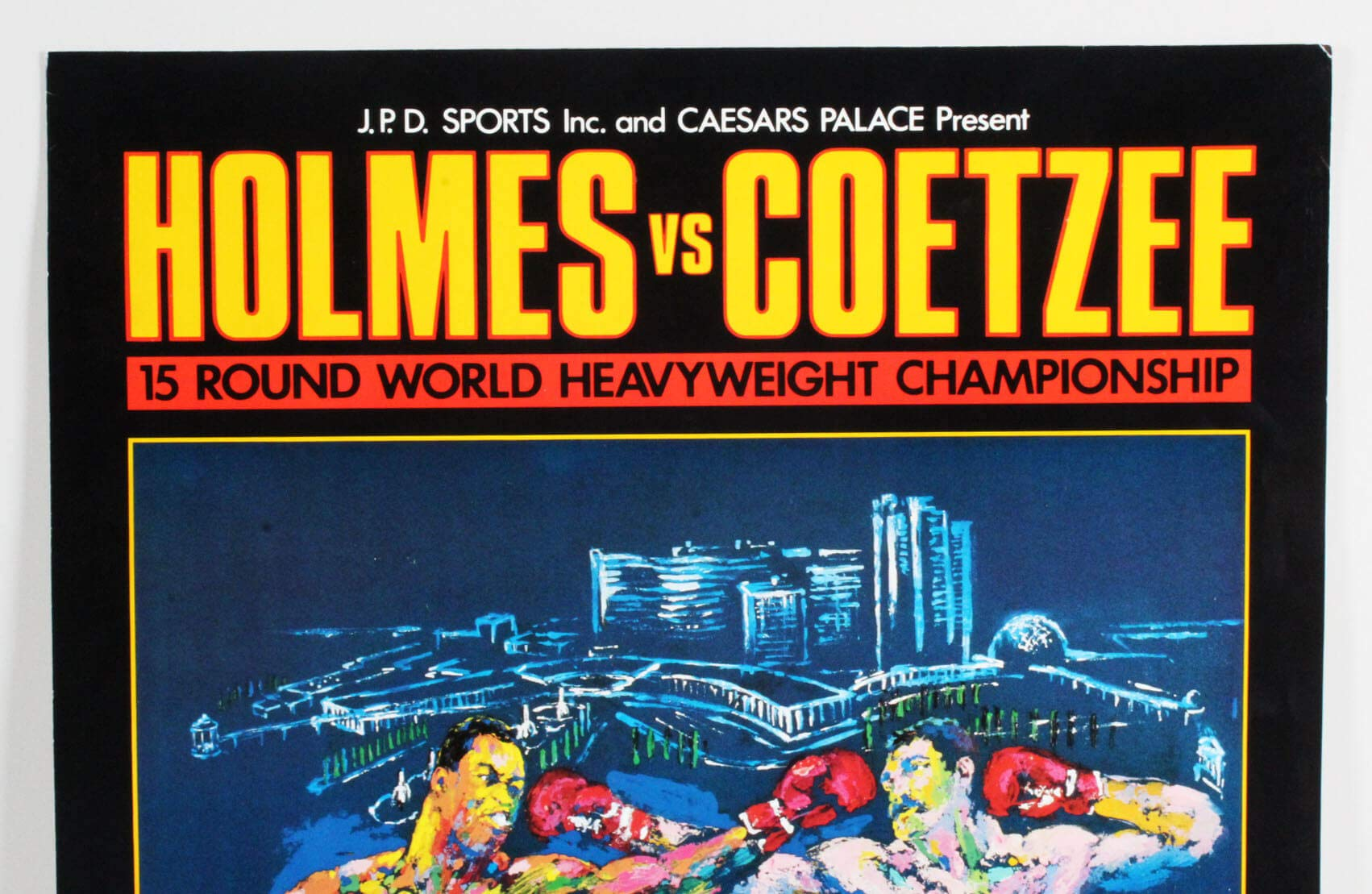 Larry Holmes Vs. Gerrie Coetzee Fight Poster