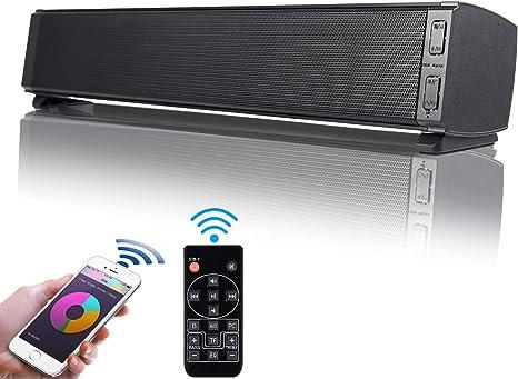 Barra de Sonido, Fityou Altavoces PC Sobremesa 20W Bluetooth 5.0 Altavoz con Cable e Inalámbrico Altavoz Recargable estéreo con alimentación USB para TV/Smartphones/Ordenador/USB/TF: Amazon.es: Electrónica