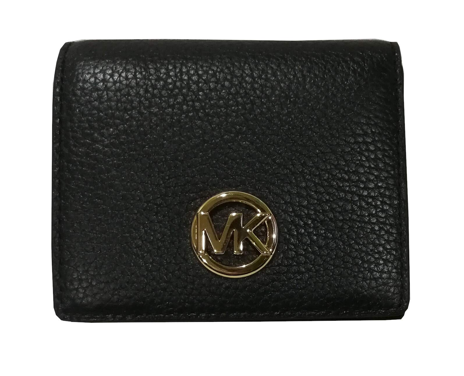 Michael Kors Fulton Leather Carryall Card Case Wallet (Black)