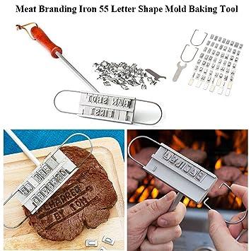 shareling barbacoa marca hierro con letras intercambiables – Marca su carne, hamburguesas, pollo,