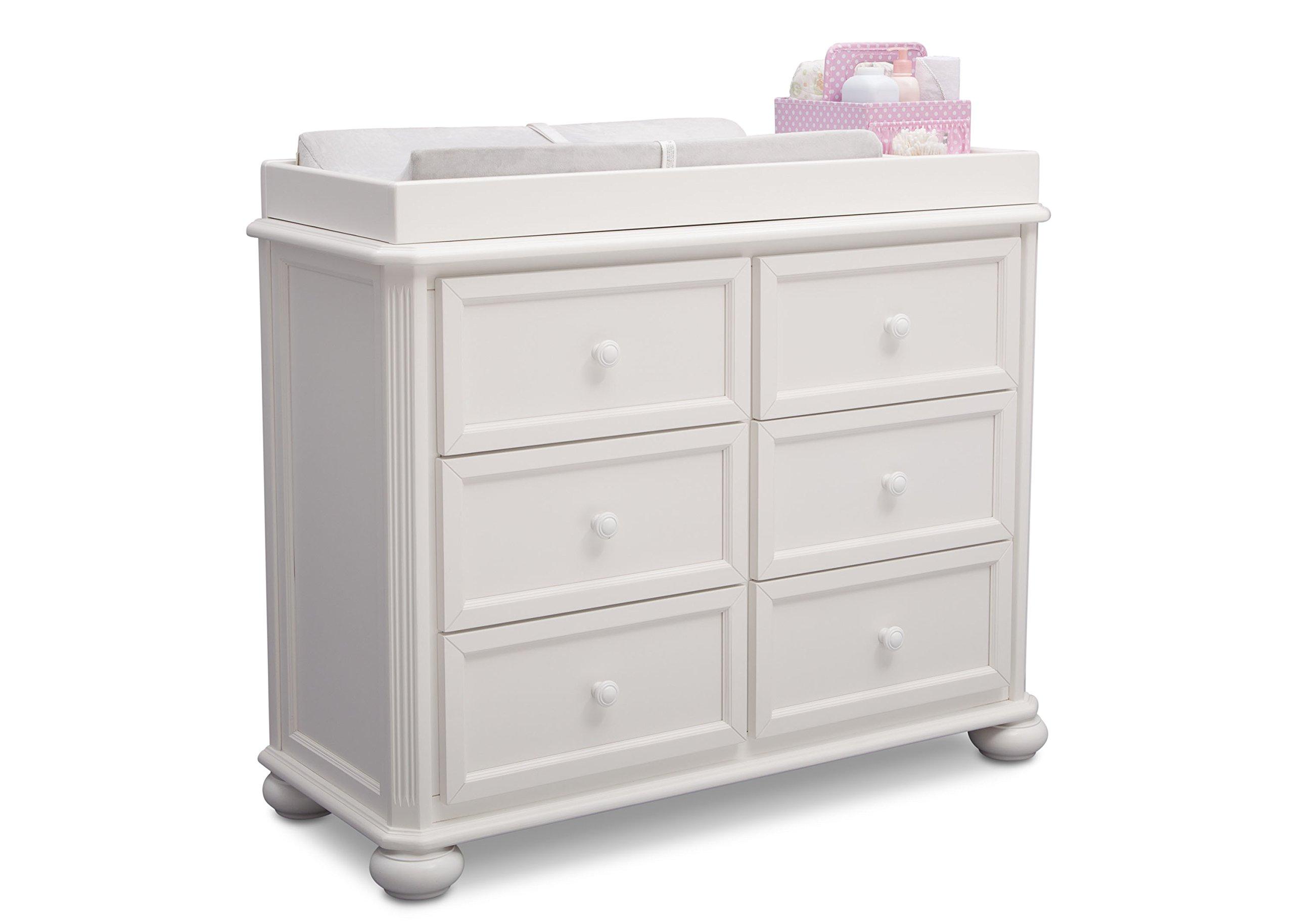 Simmons Kids Peyton 6-Piece Nursery Furniture Set (Convertible Crib, Dresser, Chest, Changing Top, Toddler Guardrail, Full Size Conversion), Bianca White by Delta Children (Image #5)