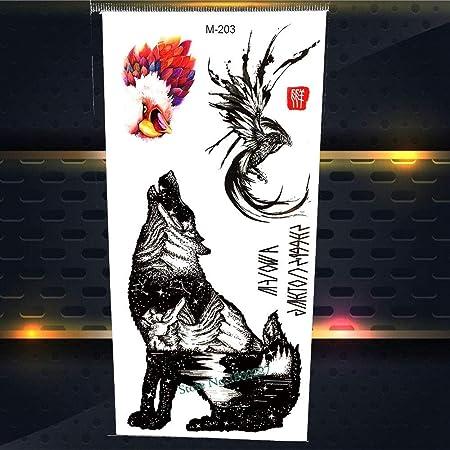 Yyoutop 3D Negro Rey Araña Impermeable Tatuaje Regalos para Niños ...