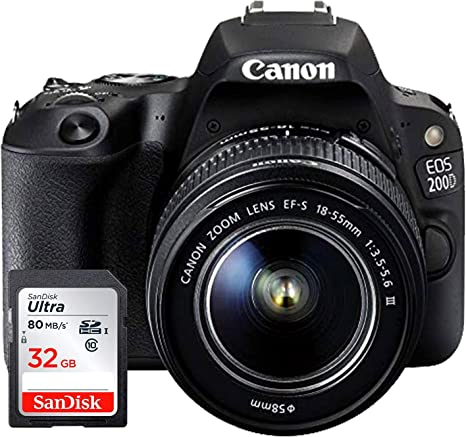 Canon EOS 200D - Cámara Digital réflex + Objetivo EF-S 18-55 f/4-5 ...