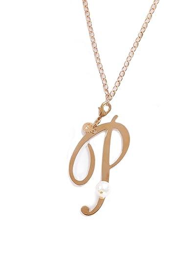 9ab72e78e0b4 Genesia - kikilia - Collar Perla y letra - P  Amazon.es  Joyería