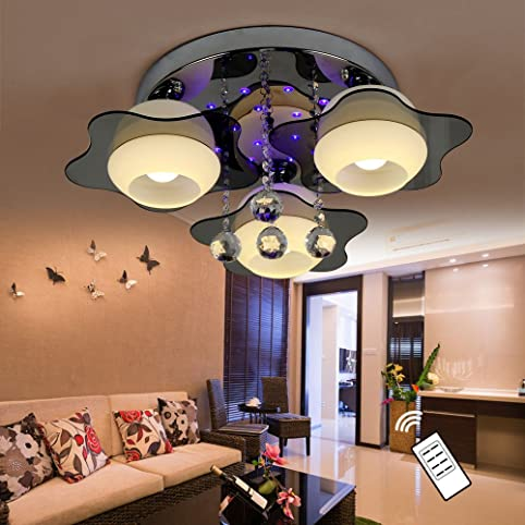 Natsen® Led Kristall Deckenleuchte Deckenlampe Designer Wohnzimmer