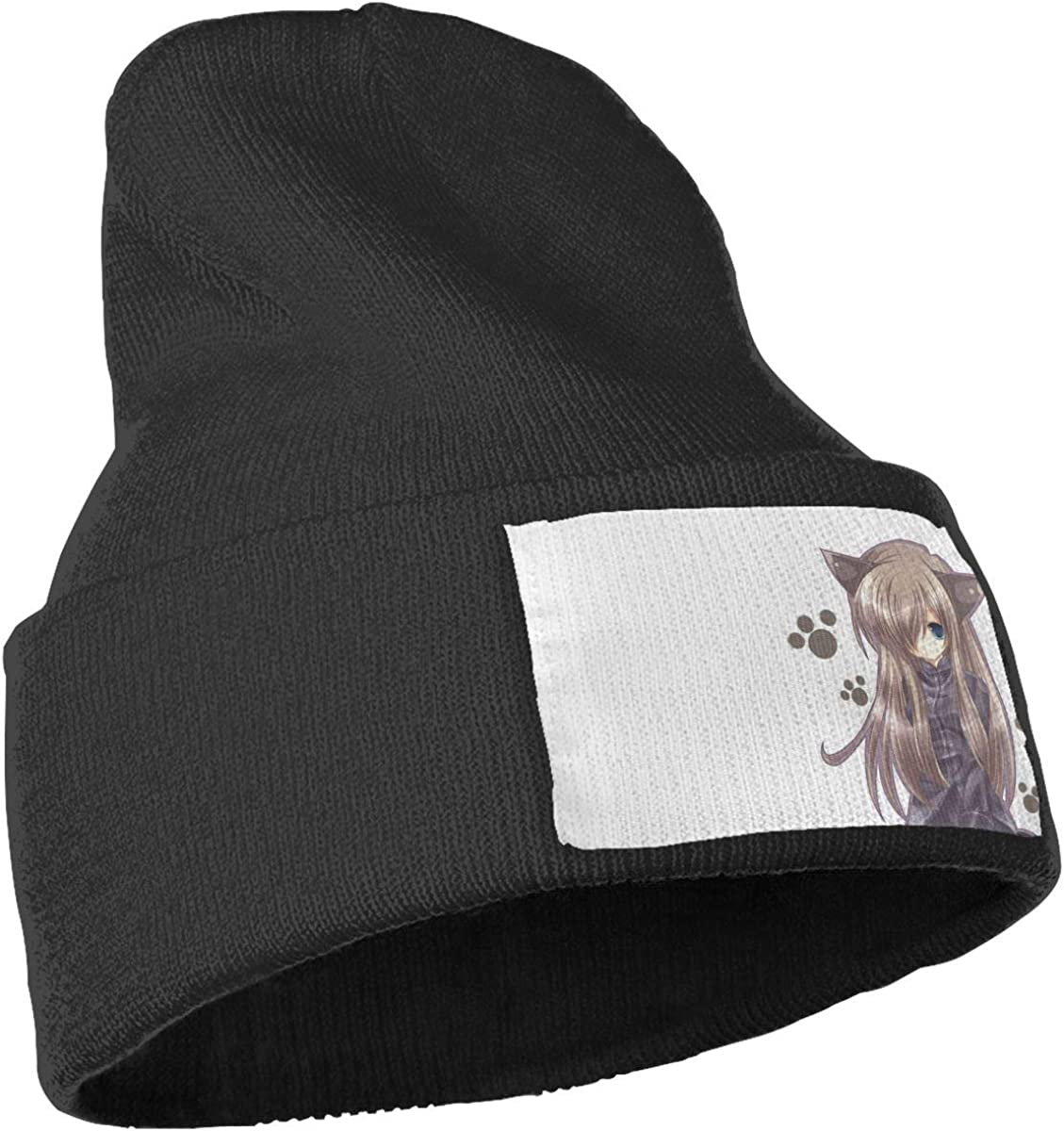 ONHIM Cat-Girl-nekomimi-Art-Anime-Girl Men /& Women Stretchy Knitting Beanie Hat Skull Rollup Beanie