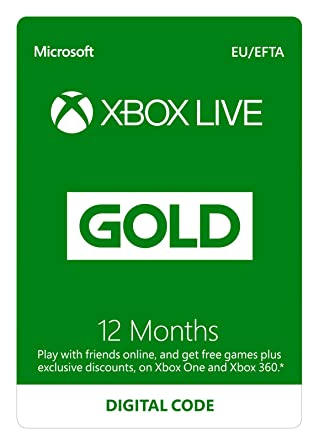 Xbox Live 12 Month Gold Membership | Xbox One/360 | Xbox