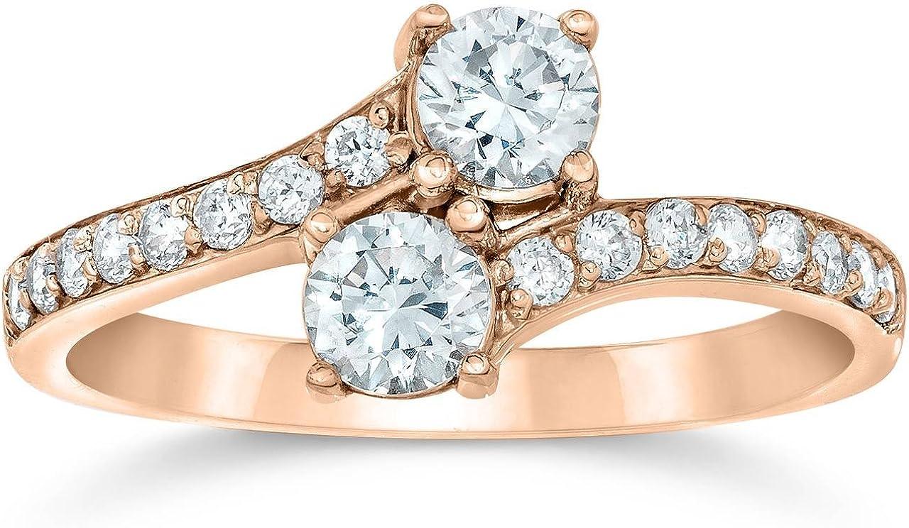 1 Carat Forever Us 2-Stone Diamond Engagement Ring 14K Rose Gold