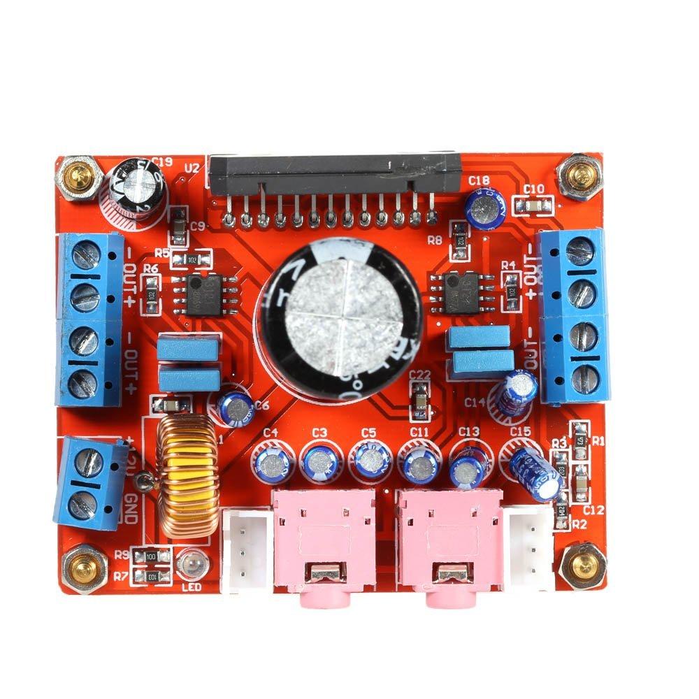 KKmoon TDA7850 Tablero del Amplificador de Potencia Estéreo para Audio de Automóvil 4*50W con BA3121 Denoiser DC 12V: Amazon.es: Bricolaje y herramientas