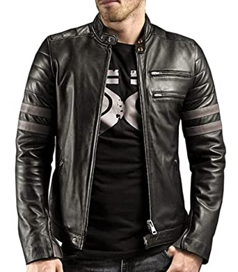 728272856069 Standard Leather Mens Motorcycle Leather Jacket at Amazon Men s ...