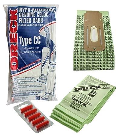 Oreck Cc 9000 Series Vacuum Cleaner Xl Ccpk8Dw 16 Bags + 10 Fresheners