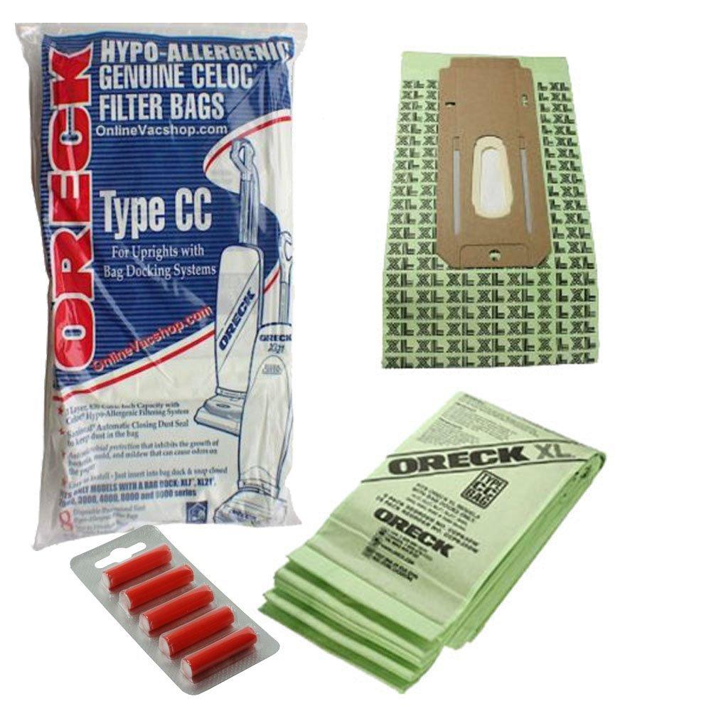 Oreck Cc 9000 Series Vacuum Cleaner Xl Ccpk8Dw 8 Bags + 5 Fresheners