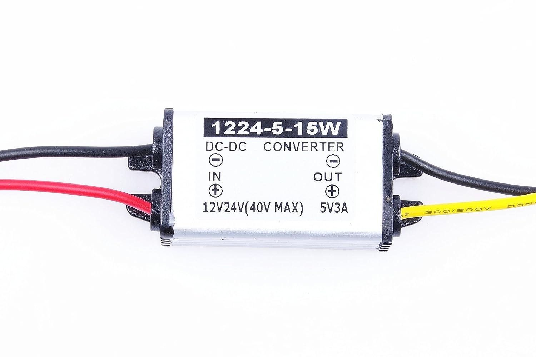 Step Down to 5V 3A Power Supply Module DC 5V 3A KNACRO DC//DC Converter 9V 12V 24V 36V 7-40V