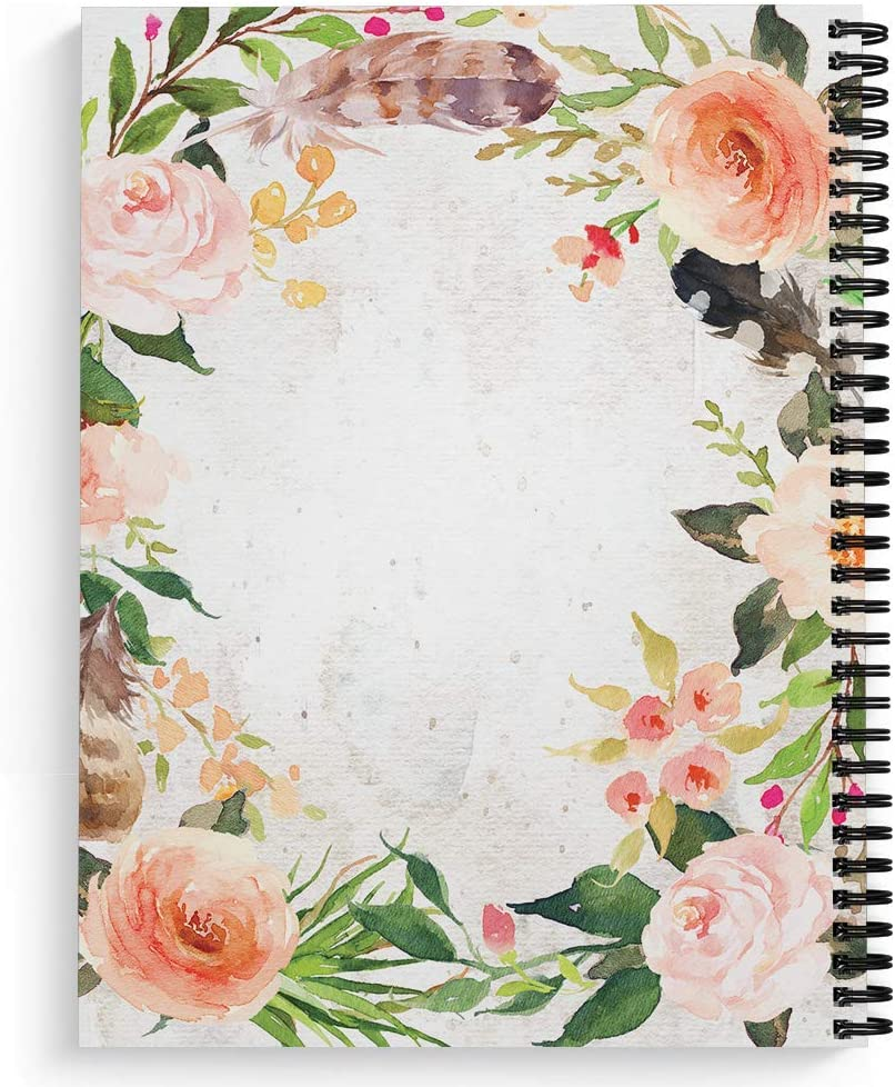 120 College Ruled Pages Durable Gloss Laminated Cover Made in The USA Black Wire-o Spiral Softcover Done in Love 8.5 x 11 Religious Spiral Notebook//Journal