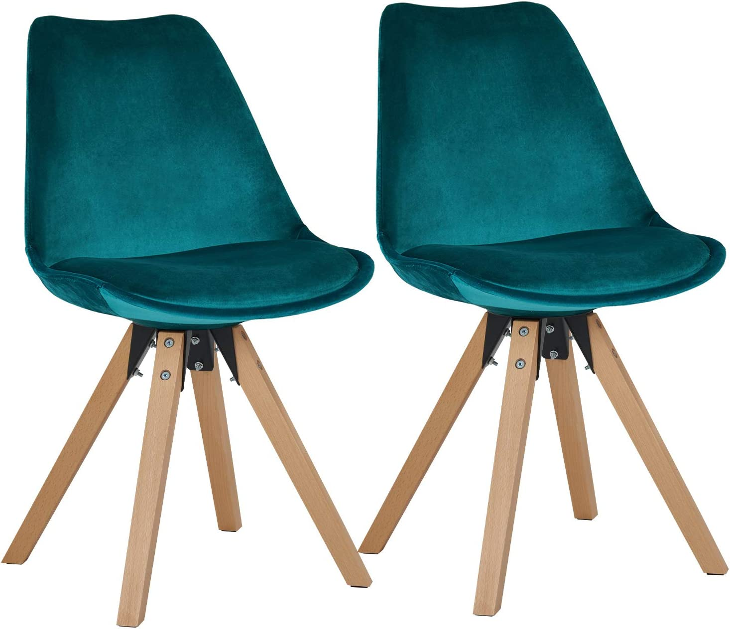 Classic Wooden Sofa Set, Dining Chairs Set Of 2 Plastic Chairs With Faux Leather Seat Cushion Retro Design With Wooden Legs Colour Selection Wy 518m Colour Teal Material Velvet Amazon Co Uk Kitchen Home