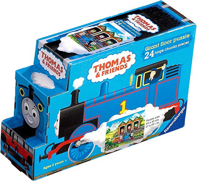 94e69d1ba77 Amazon.com: Thomas & Friends: Off to Work - 24 Piece Floor Puzzle in Shaped  Box: Toys & Games