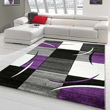 Tapis Salon VIRGULADA Violet 160 x 230 cm Tapis de Salon Moderne Design