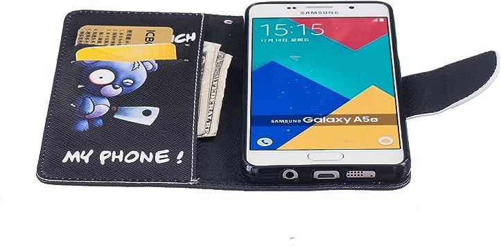 SM-A510F Housse en cuir pour Samsung Galaxy A5 SM-A510F Coque pour Samsung Galaxy A5 2016 Ecoway R/étro motif color/é /étui en cuir PU Cuir Flip Magn/étique Portefeuille Etui Housse de Protection Coque /Étui Case Cover 2016