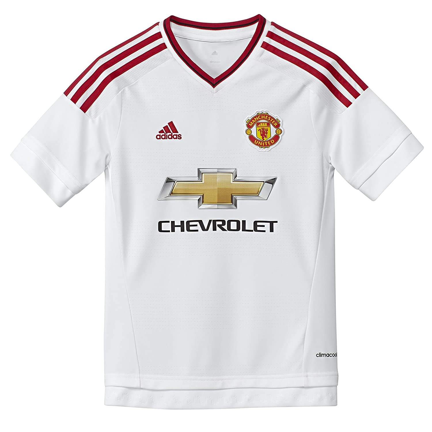 Adidas MUFC A JSY Y-Camiseta per Bambini, Colore: Bianco/Rosso adidas Performance