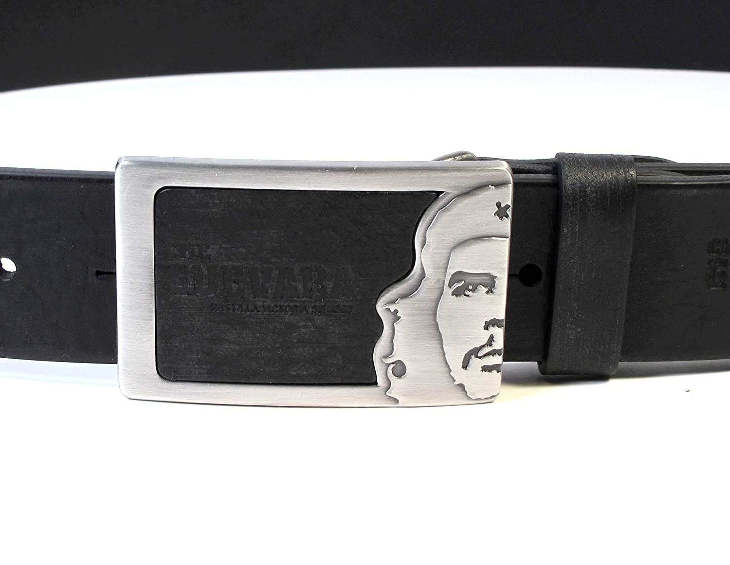 CM5 Mens Real Genuine Leather Black Belt 1.5 Wide S-L Thick Long Casual Jeans
