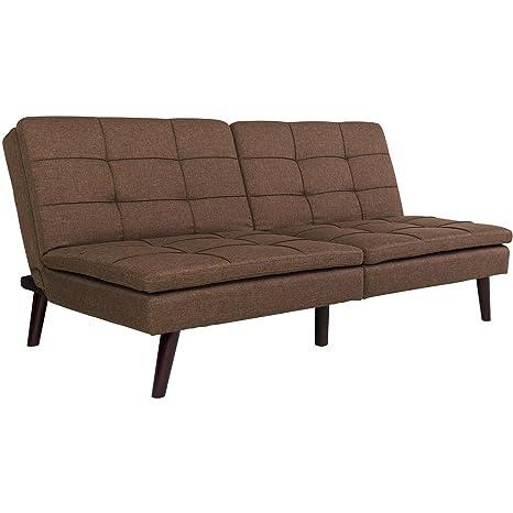 Amazon.com: Funda de almohada clásica de lino marrón, diseño ...
