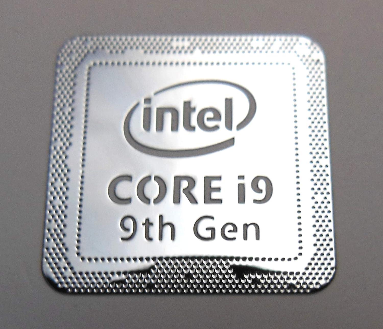 VATH Made Intel Core i9 9th Generation Metal Sticker 18 x 18mm / 11/16' x 11/16' [981]