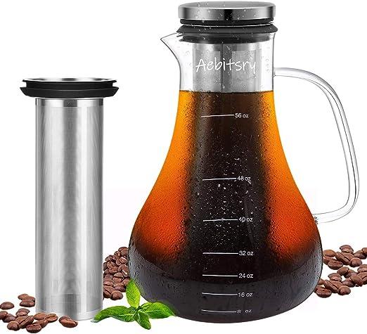 Amazon.com: Aebitsry Cafetera de cerveza fría, (56 oz) para ...