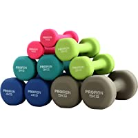 PROIRON Kurzhanteln Hanteln Übung Neopren Hantel 5 Gewichts- und Farbvarianten (2er-Set)