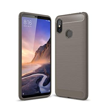 KISCO para Xiaomi Mi MAX 3 Funda,Ultra Slim Flexible Soft Carbon ...