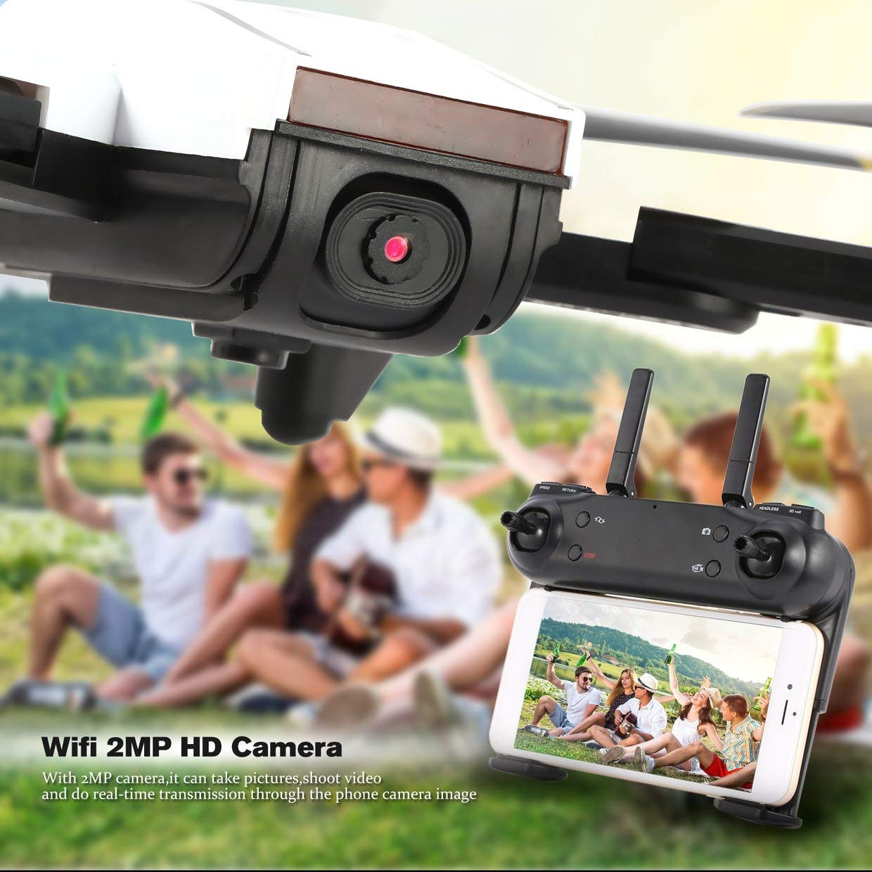 Qewmsg SG700 2.4G RC Faltbarer Quadcopter FPV mit 2MP HD Wifi Kamera Optischer Fluss RTF