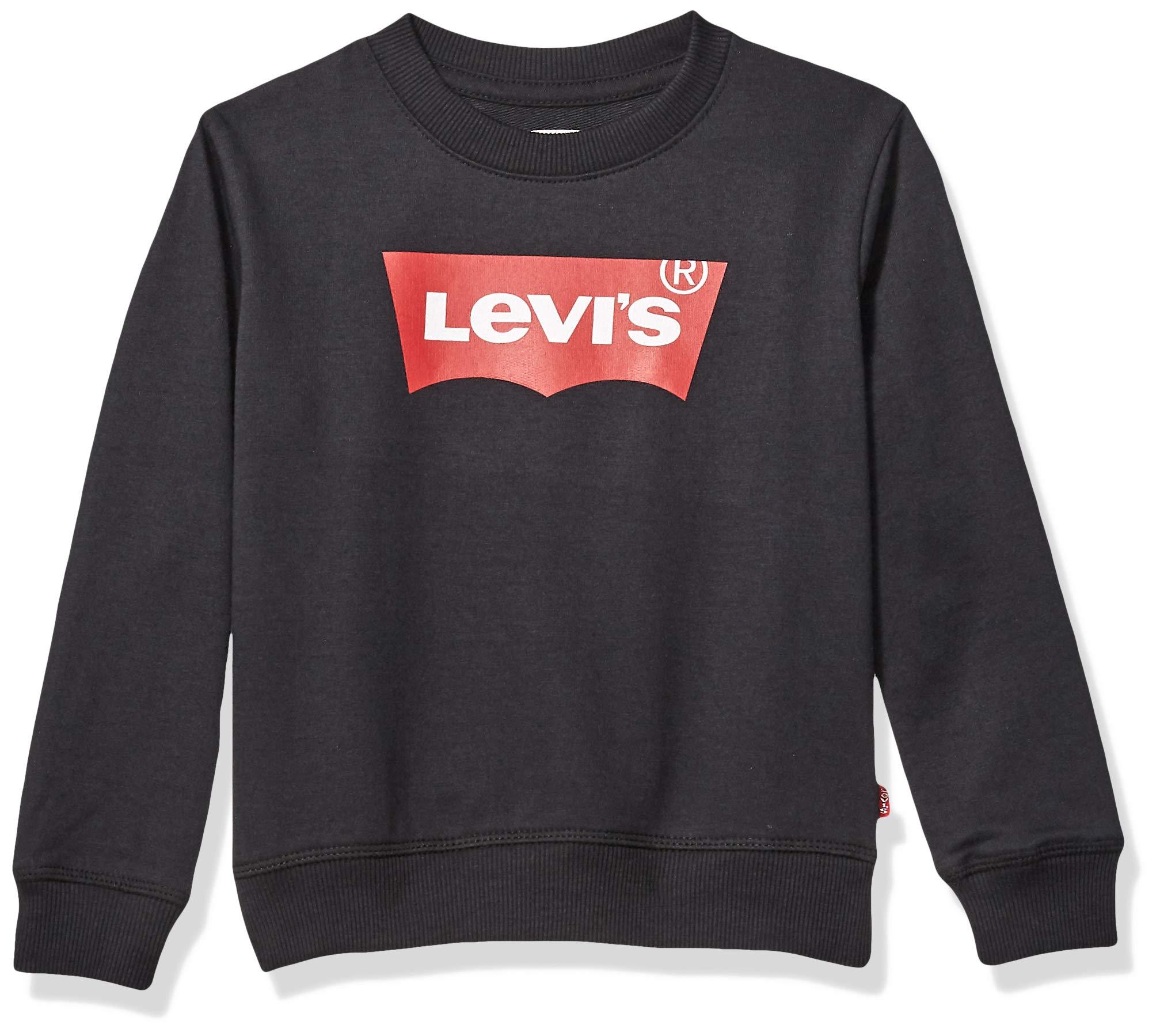 Levi's Boys' Big' Crewneck Sweatshirt Black L