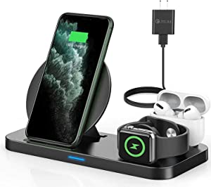 Wireless Charging Station, 3 in 1 Wireless Charging Station for Apple Products