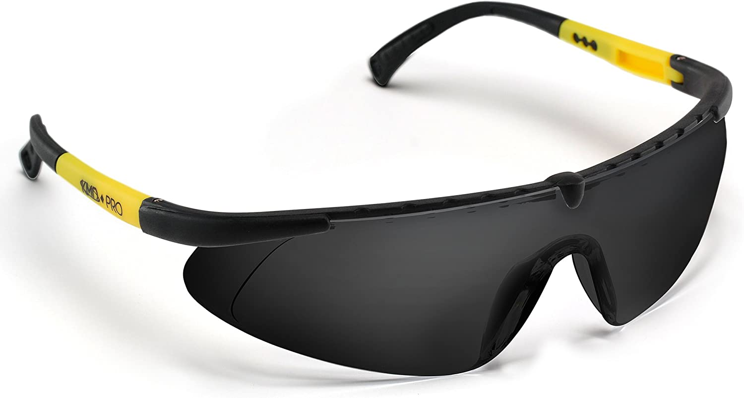 ANSI Approved Safety Glasses with Anti Fog/Scratch Resistant Lenses- Heavy Duty Nylon Frames- Superior Eye Protection for Shooting/Cycling/Construction Work & More (Grey)