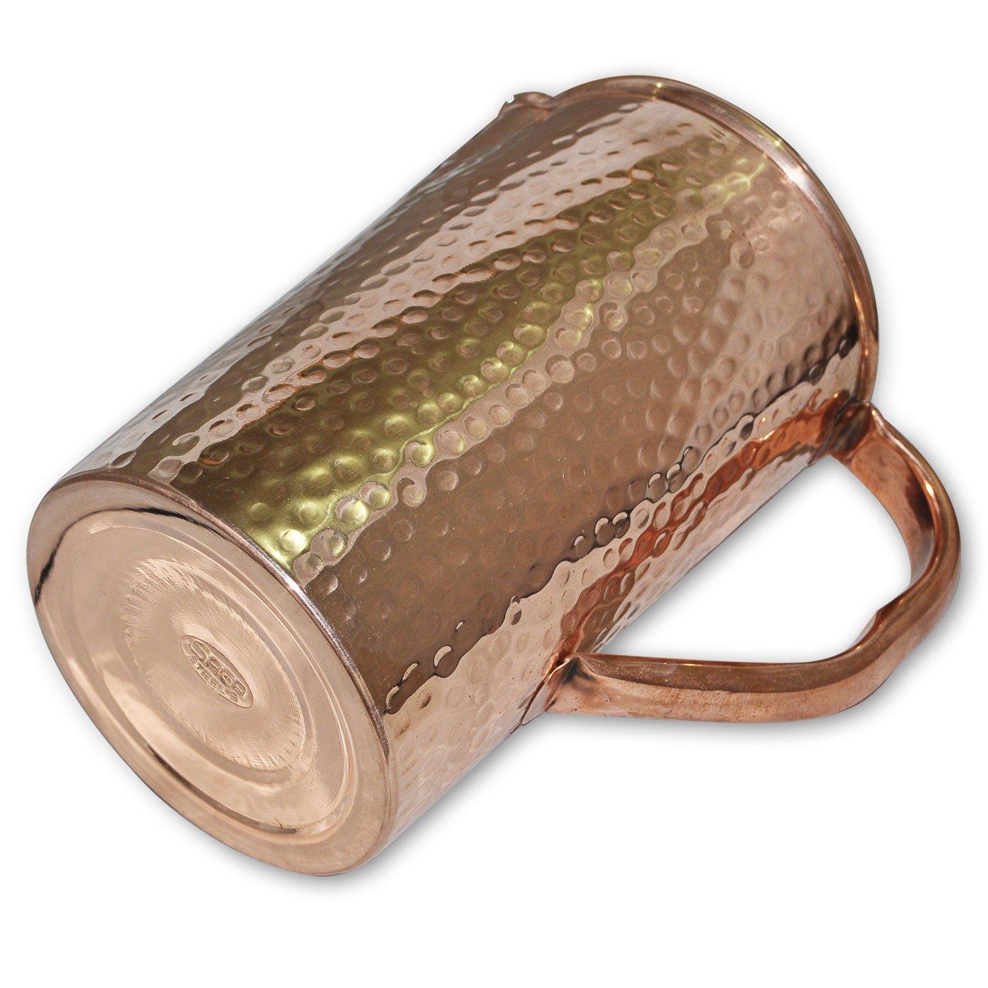 DakshCraft alta calidad de cobre puro Jarra con Tapa para Beneficios de Salud